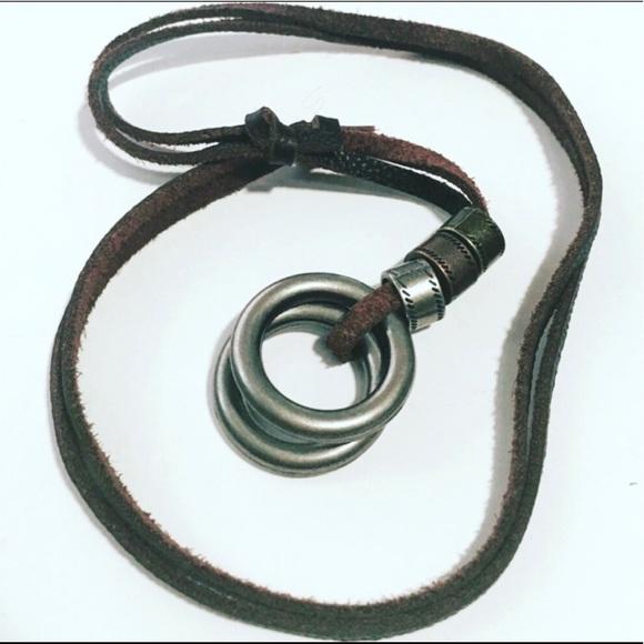 Adjustable Leather Necklace Unisex